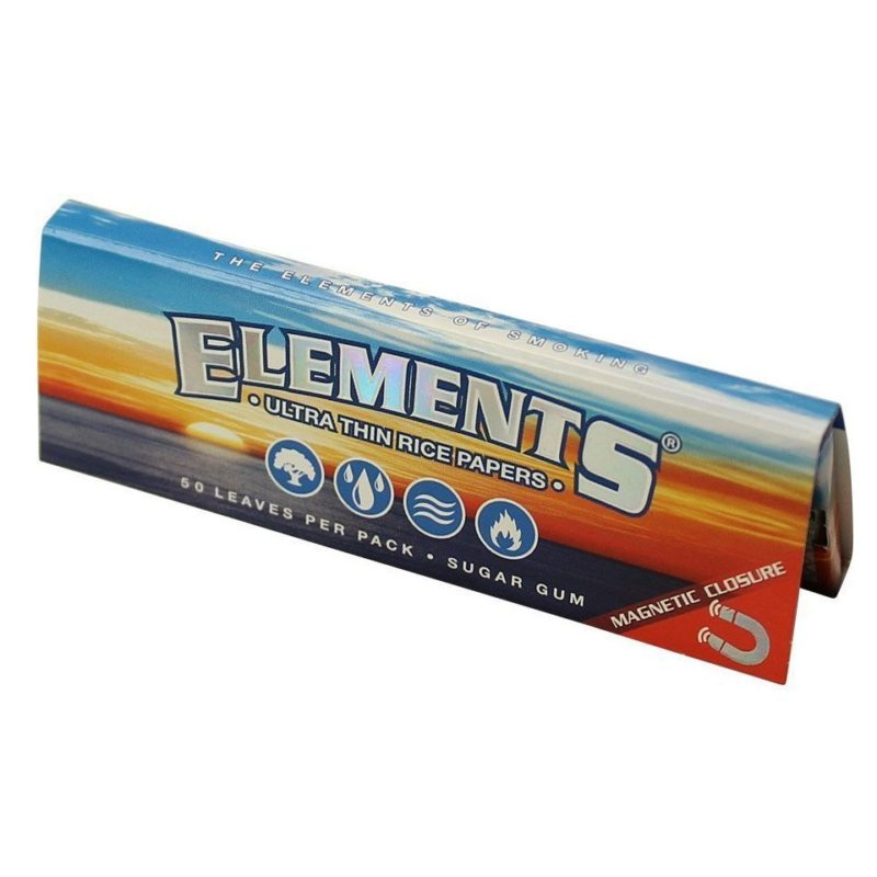 Elements Ultimate Thin Rice Rolling Papers w/Magnet- 1 1/4