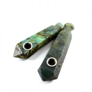 Labradorite Fluted Crystal Wand Pipe Canada
