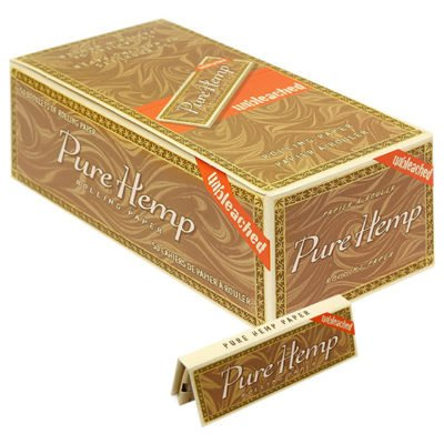 Pure Hemp Unbleached Rolling Papers Single Wide