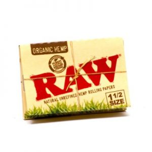 RAW Organic Hemp Natural Unrefined Rolling Papers 1 1/2 Canada
