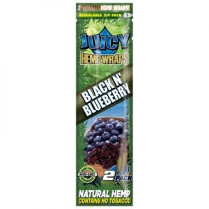 Juicy Jay Black and Blueberry Hemp Wraps